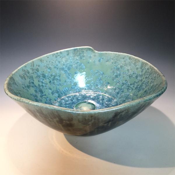 Blue Green Crystal Wave Sink Larger Image
