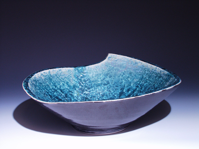 Delicieux The Oval Wave Design, Vessel Sink, Side View